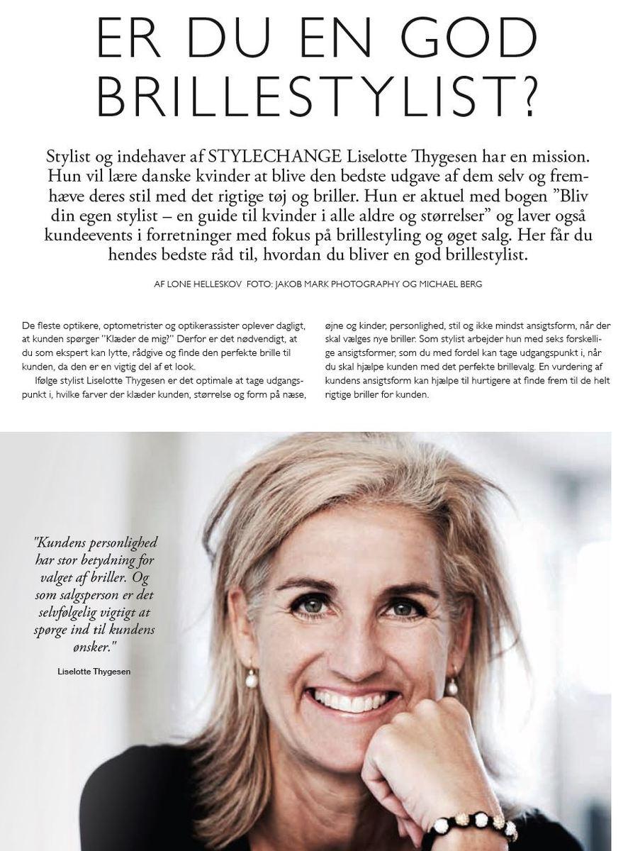 Artikel fra Fagbladet Optikeren sept. 2019: Er du en god brillestylist?